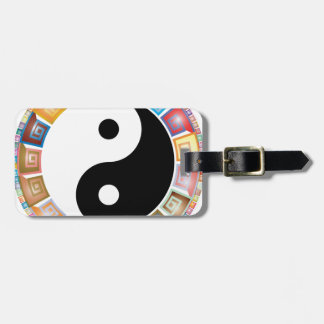 yin yang eastern asian philosophy luggage tag