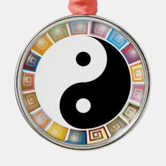 yin yang eastern asian philosophy metal ornament