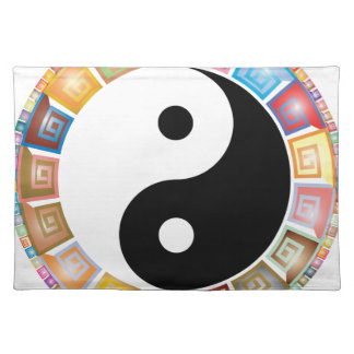 yin yang eastern asian philosophy placemat