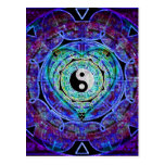 Yin Yang Energy Flow Postcard
