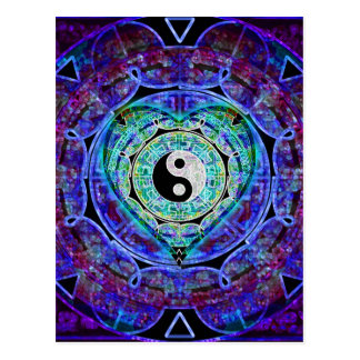Yin Yang Energy Flow Postcard