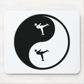 Yin Yang Figure Skating Mouse Pad