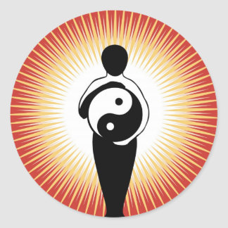 Yin Yang Figure sticker