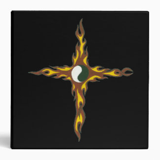 Yin Yang Fire Cross Vinyl Binders