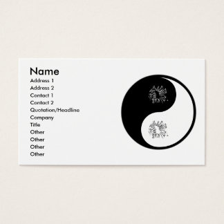 Yin Yang Fireworks Business Card