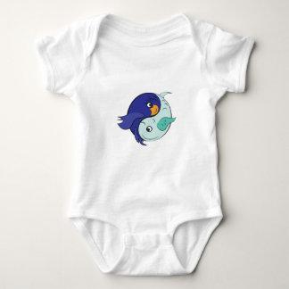 Yin Yang Fish Baby Bodysuit