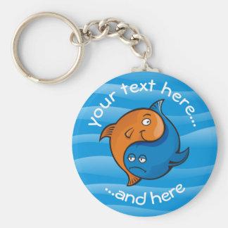 Yin Yang Fish Cartoon Keychain