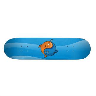 Yin Yang Fish Cartoon Skateboards