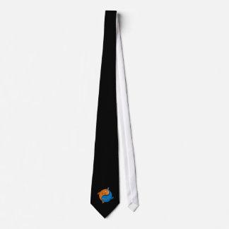 Yin Yang Fish Cartoon Tie