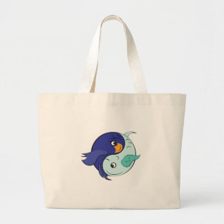 Yin Yang Fish Large Tote Bag