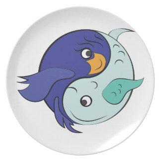 Yin Yang Fish Party Plates