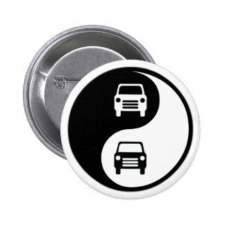 Yin Yang Fixing Cars Pin