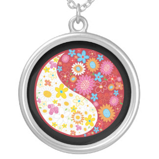 Yin Yang Flowers Necklace
