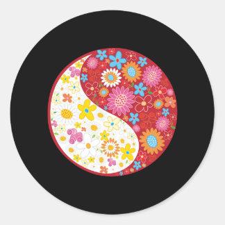 Yin Yang Flowers Sticker