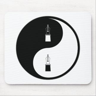 Yin Yang Fountain Pens Mouse Pad