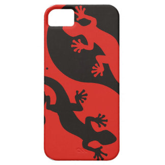 YIN & YANG Geckos black red + your background idea iPhone 5 Cases