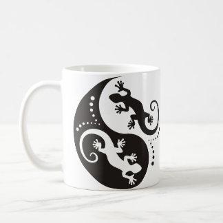 YIN & YANG Geckos black + your background & idea Coffee Mug