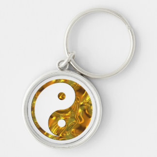 Yin & Yang GOLD | make your own background Keychain
