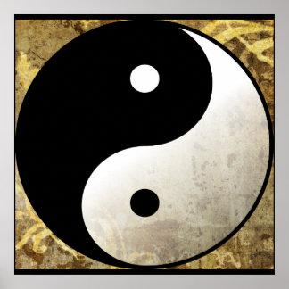 Yin Yang Gold Poster