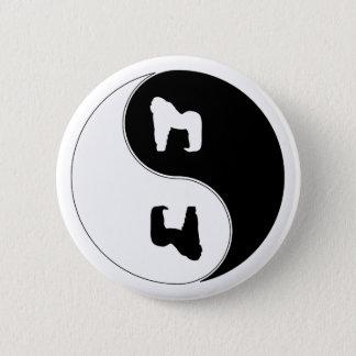 Yin Yang Gorilla 2 Inch Round Button
