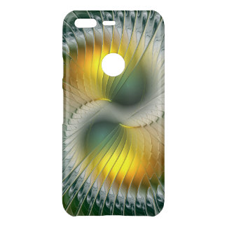 Yin Yang Green Yellow Abstract Colorful Fractal Uncommon Google Pixel Case
