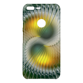 Yin Yang Green Yellow Abstract Colorful Fractal Uncommon Google Pixel XL Case