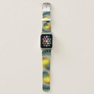 Yin Yang Green Yellow Abstract Colourful Fractal Apple Watch Band
