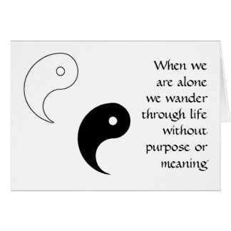 YIN YANG GREETING CARD DESIGN