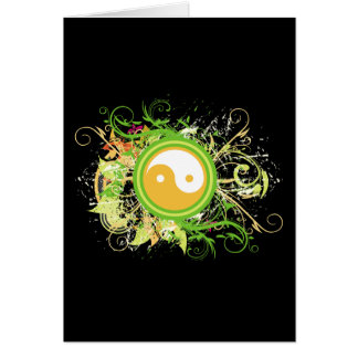 Yin Yang Grunge Card