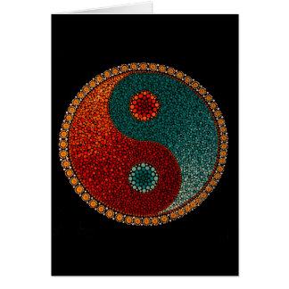 Yin Yang Hand Painted Mandala Card