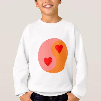 Yin Yang heart hearts Sweatshirt