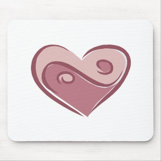 yin yang heart mouse mat