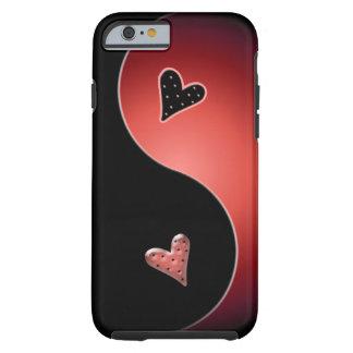 yin yang heart - red tough iPhone 6 case