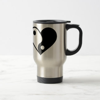 Yin yang heart travel mug