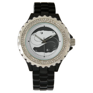 Yin Yang Horse Heads Watch