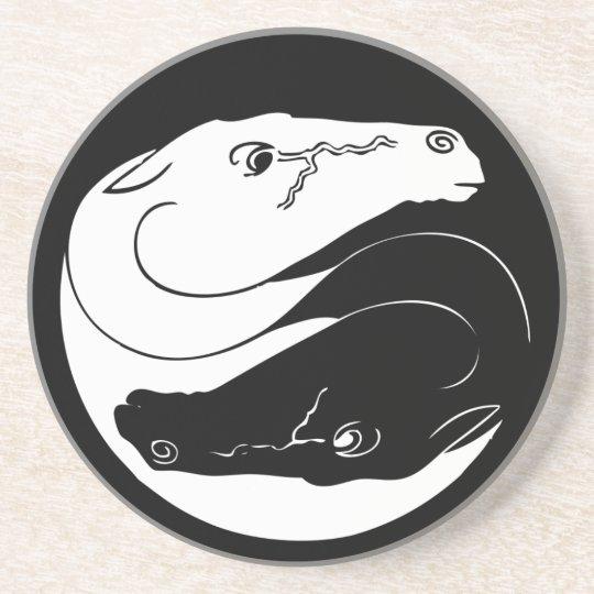 Yin Yang Horses Sandstone Coaster