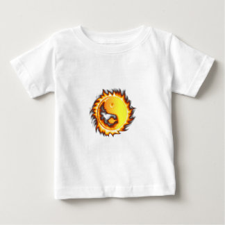 Yin Yang I Fire and flames Baby T-Shirt