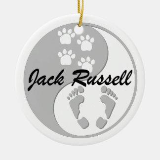 yin yang jack russell ceramic ornament