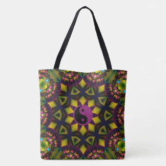 yin yang jewel tote bag
