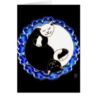 yin yang kittens card