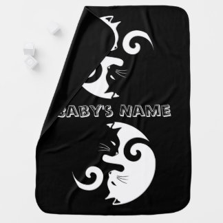 Yin Yang Kitties Baby Blanket