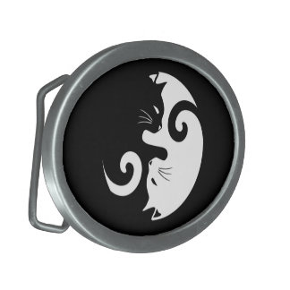 Yin Yang Kitties Belt Buckle