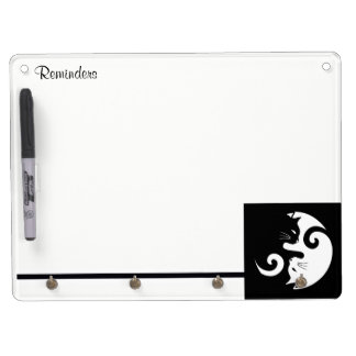 Yin Yang Kitties Dry Erase Board With Keychain Holder