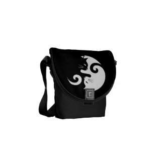 Yin Yang Kitties Messenger Bag