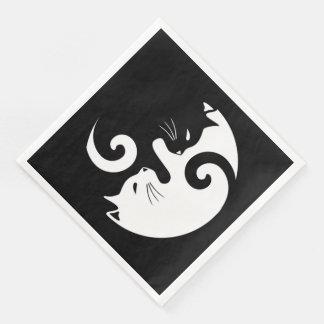 Yin Yang Kitties Paper Dinner Napkin