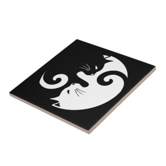 Yin Yang Kitties Tile