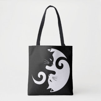 Yin Yang Kitties Tote Bag