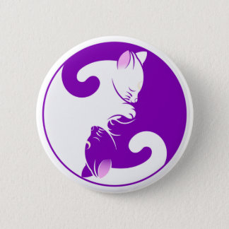 Yin Yang Kitty 2 Inch Round Button