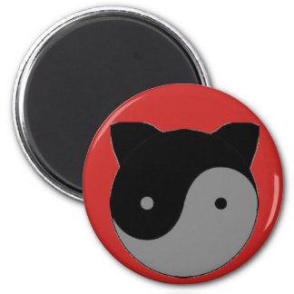 Yin Yang Kitty Cat Kitten Magnet