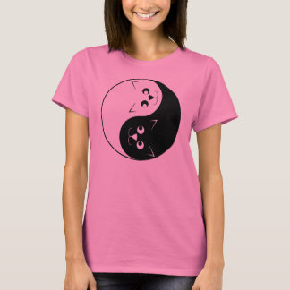 Yin Yang Kitty Cat T-Shirt